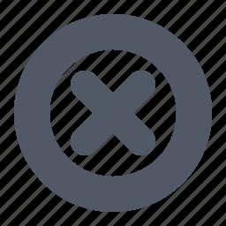 button, cancel, cross, delete, remove icon