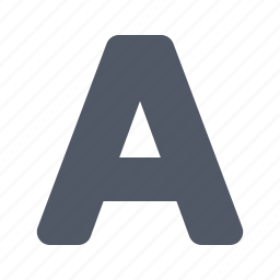 a, case, font, letter, write icon
