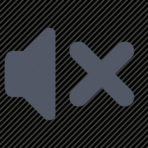 audio, cross, mute, off, sound, speaker, volume icon