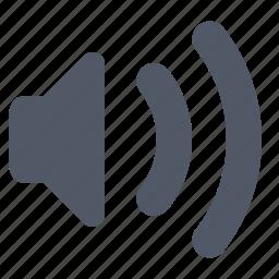 audio, sound, speaker, volume, wave icon