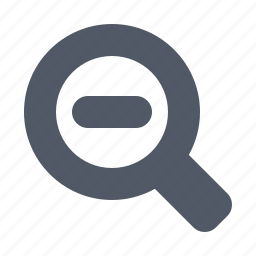 magnifier, minus, out, zoom icon