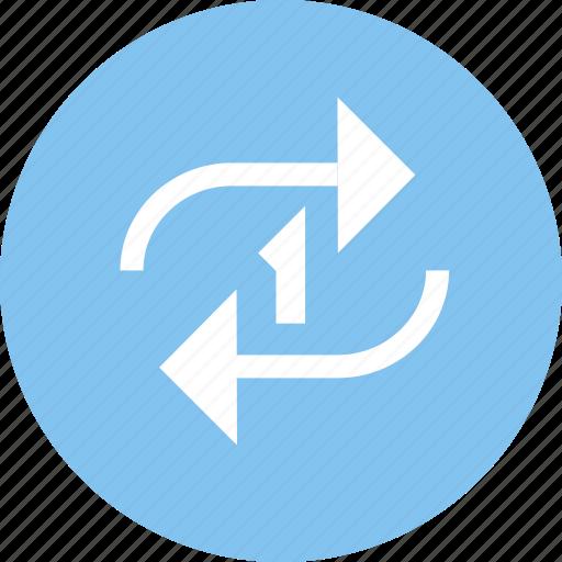 loop, play, single loop, sort icon