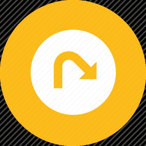 arrow, navigation, redo icon