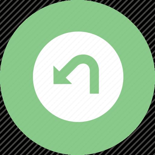 back, backward, navigation, undo icon