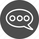 bubble, chat, comment, comments, forum, hint, message, speech, talk, text, voice icon