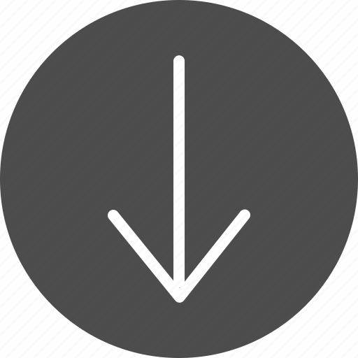 arrow, down, download, move icon