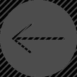 arrow, back, backward, last, left, previous, rearward, reply, undo icon