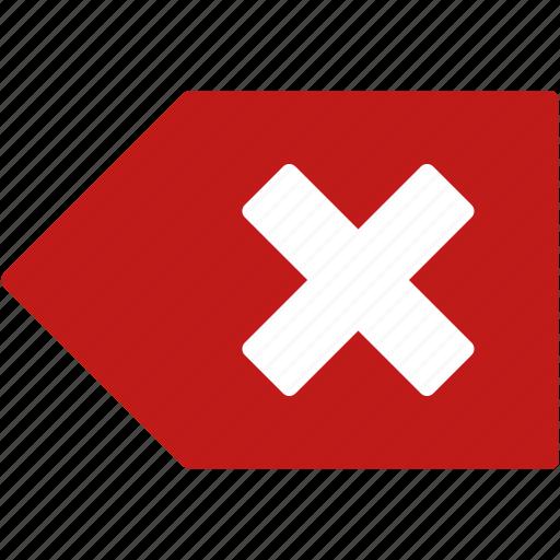 back, backspace, close, delete tag, edit, erase, remove icon