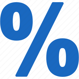 discount, part, partial, piece, rent, tax percent, taxes icon