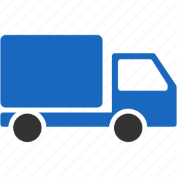 car, courier, delivery, logistics, send, service, shipping, transport, transportation, truck, vehicle, warehouse icon