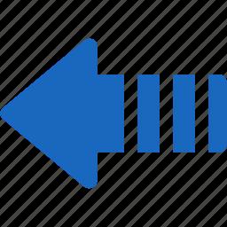 arrow, arrows, back, direction, history, left, previous, send, undo icon