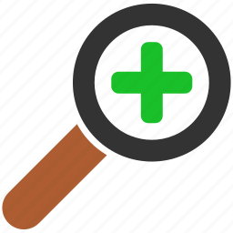 add, analysis, audit, binoculars, cross, enlarge, expand, explore, explorer, find, glass, health, hospital, in, look, magnifier, magnify, magnifying, magnifying glass, medical, new, plus, research, scan, search, seo, tool, view, zoom icon