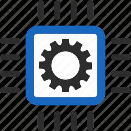 automatic, automation, control, development, engineering, integration, processor icon