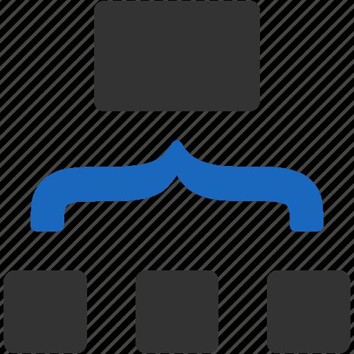 chart, combine, diagram, graph, management, structure, unit icon