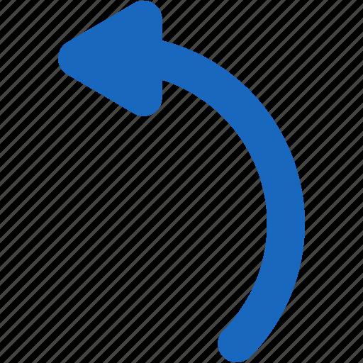 arrow, direction, left, rotate, rotation, undo icon