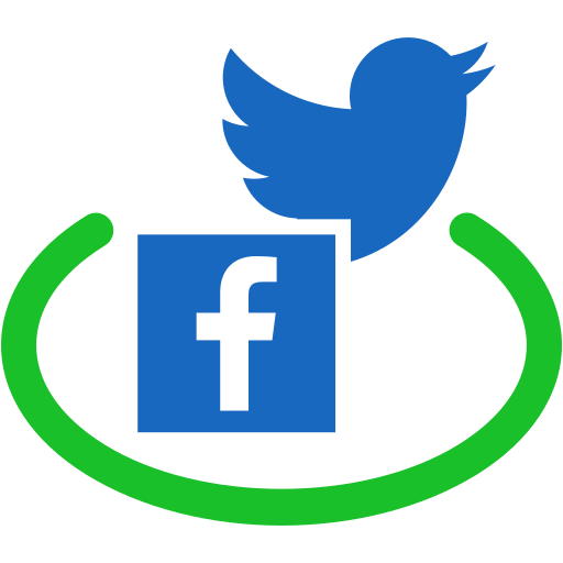 communication, connection, facebook, network, public, social, twitter icon