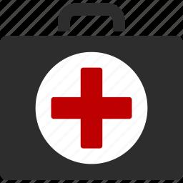 ambulance, case, emergency, health, hospital, medical, medicine icon
