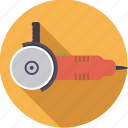angle, diy, grinder, tool, workshop icon