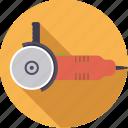 angle, diy, grinder, tool, workshop icon