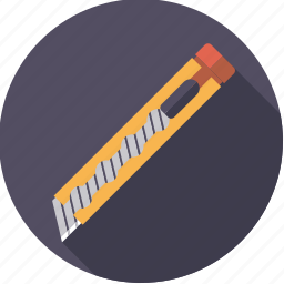 boxcutter, diy, knife, tool, utility, workshop icon