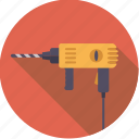 diy, drill, electrical, tool, workshop icon