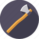axe, diy, lumber, tool, workshop icon
