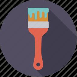 brush, diy, paint, paintbrush, tool, workshop icon