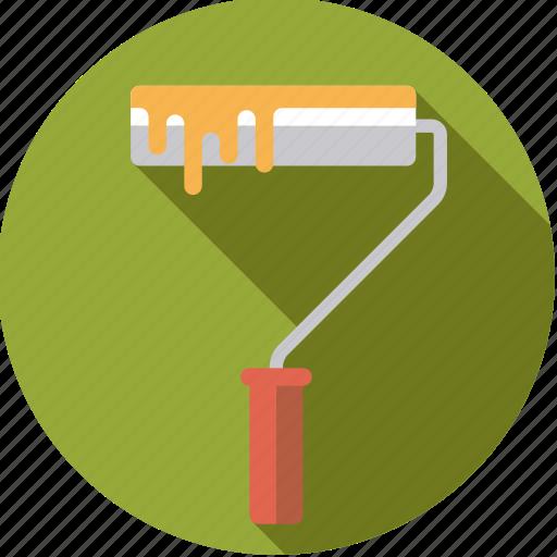 diy, paint, paintroller, tool, workshop icon