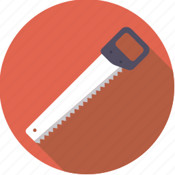 crosscut, diy, saw, tool, workshop icon