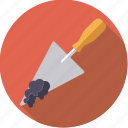 diy, mortar, tool, trowel, workshop icon