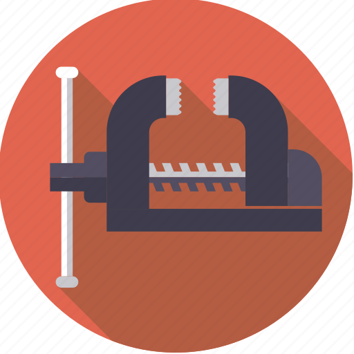 clamp, diy, tool, vice, workshop icon