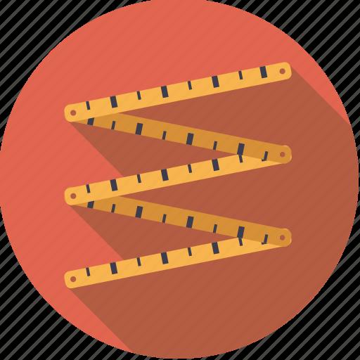 diy, measuring, tool, workshop, yardstick icon