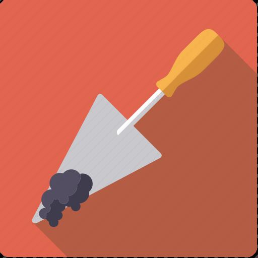 craft, diy, mortar, tool, trowel, workshop icon