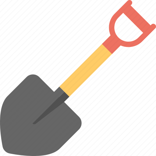 construction tool, digging spade, edging spade, planting spade, shovel icon