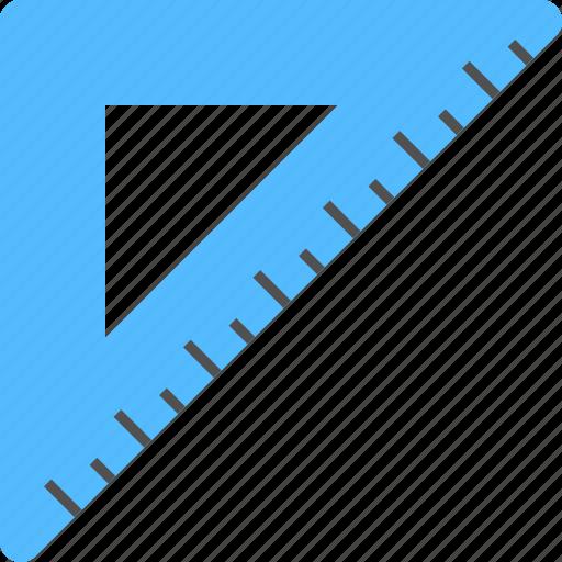geometry tool, isosceles triangle, measuring instrument, set square, triangle icon