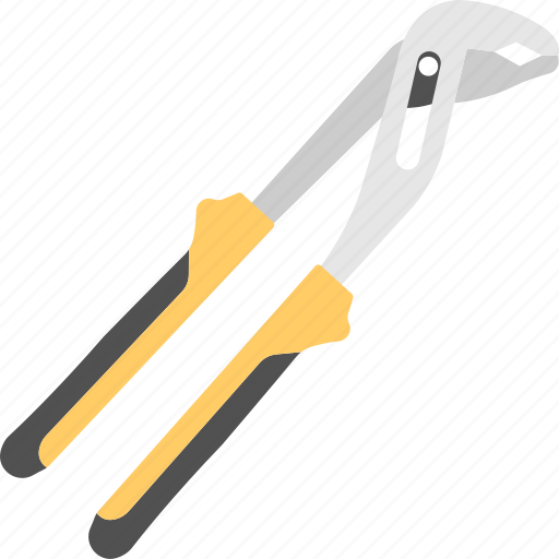 gripper, groove joint plier, mechanic tool, plumbing accessory, repair tool icon