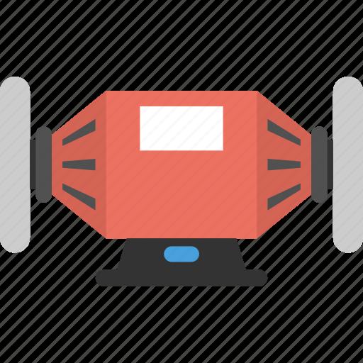 bench grinder buffer motor, buffer motor, electrical hardware, industrial buffer, polisher icon