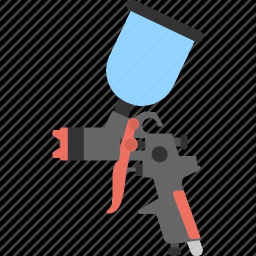 automotive spray gun, hand tool, hvlp spray, paint gun, spray gun icon