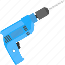 dig machine, drill, drill machine, drilling, power drill icon
