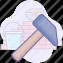 construction, hammer, tools, work