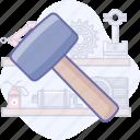 construction, hammer, tools