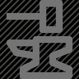 anvil, hammer icon