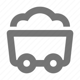 cart, dig, gold, load, mining icon