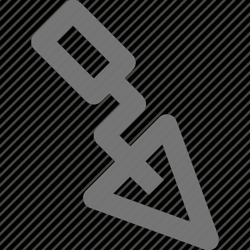 configuration, dig, equipment, repair, tool, trowel, work icon