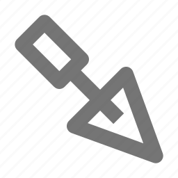 tools, trowel icon