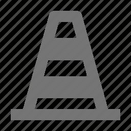 cone, traffic cone icon