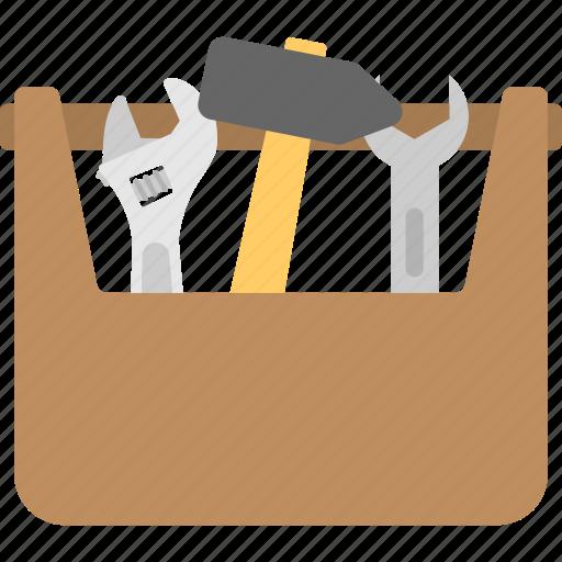repair kit, repairing, toolbox, toolkit, tools icon