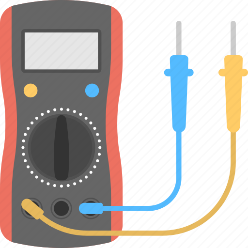 digital multimeter, digital voltmeter, gage electrometer, multimeter, voltage ampere meter icon