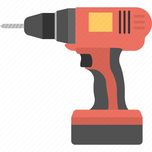 drill machine, hardware equipment, power tool, screwdriver, wall driller icon
