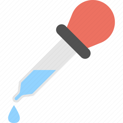blue fluid droplet, dropper, dropper pipette, eye dropper, medicine dropper icon
